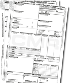 CMR Frachtbrief