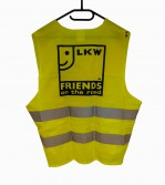 "Warnweste ""Friends on the road"" Rückseite"