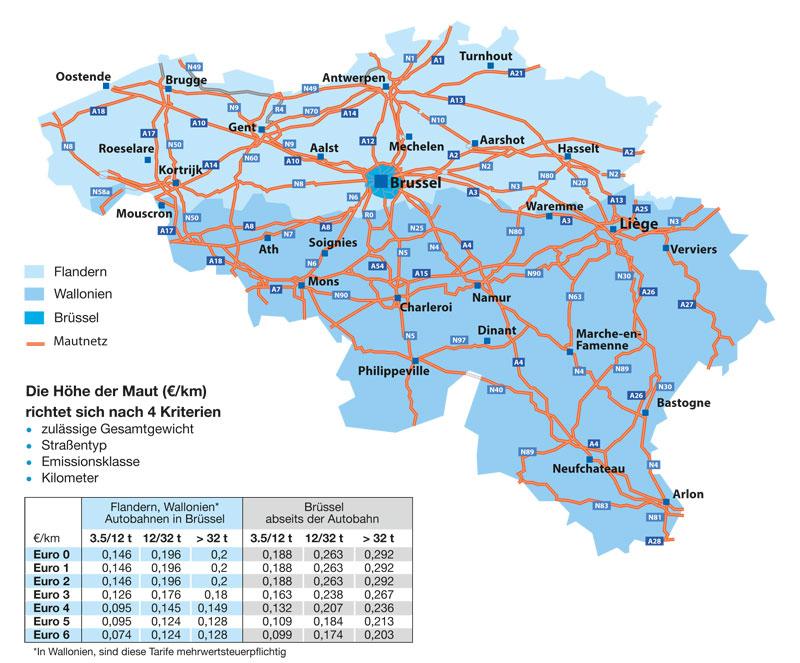 Landkarte-Belgien